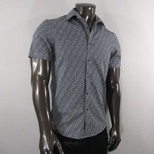 Michael Kors Black & White Button Down Classic Fit